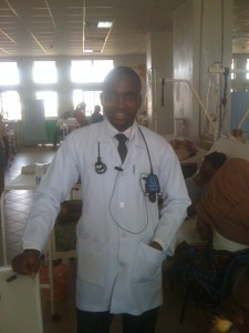 Samuel Ochenehi, March 2013 at hospital in Jos, Nigeria.